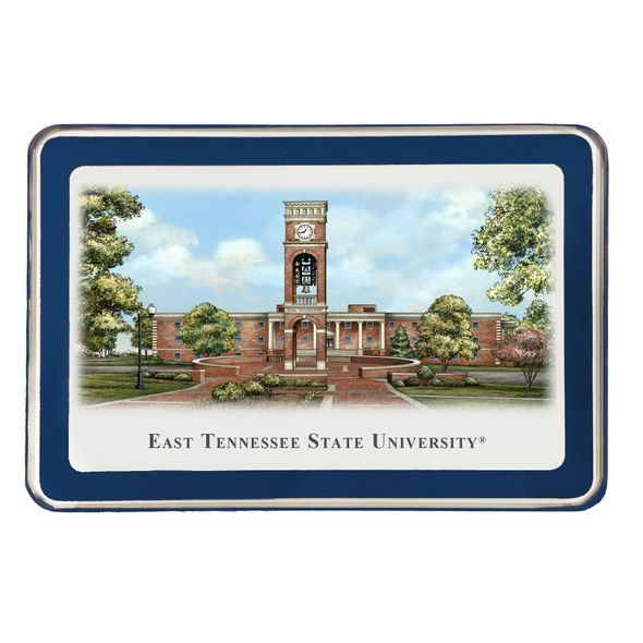 East Tennessee State University Eglomise Paperweight