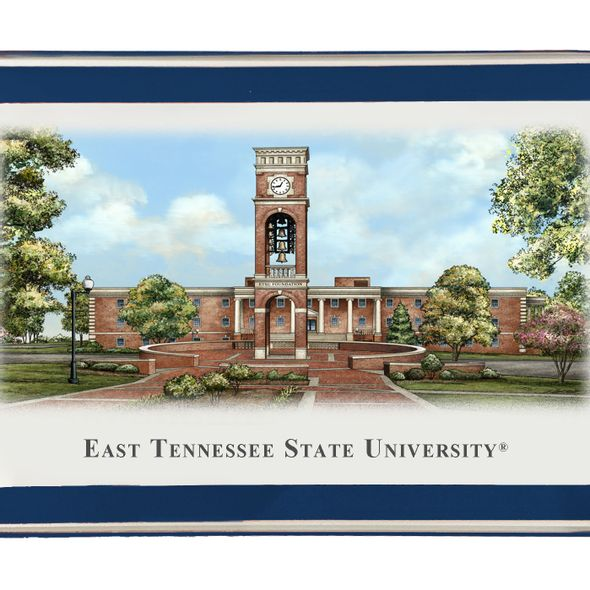 East Tennessee State University Eglomise Paperweight - Image 2