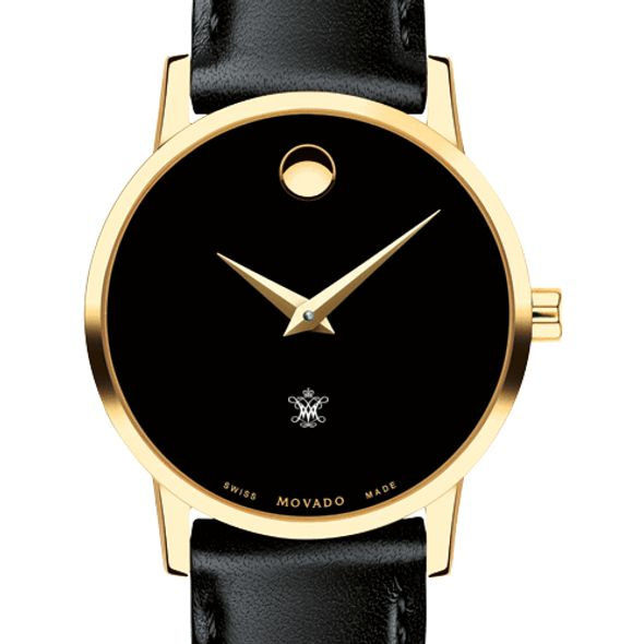 College of William & Mary Women's Movado Gold Museum Classic Leather
