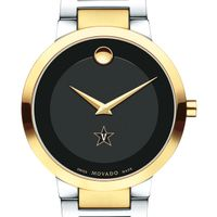 Vanderbilt University Men's Movado Two-Tone Modern Classic Museum with Bracelet