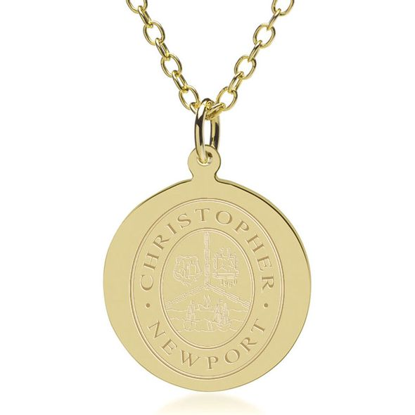 Christopher Newport University 14K Gold Pendant & Chain