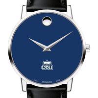 Old Dominion University Men's Movado Museum with Blue Dial & Leather Strap