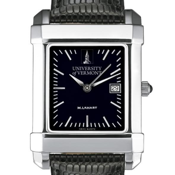 UVM Men's Black Steel Quad Watch with Bracelet