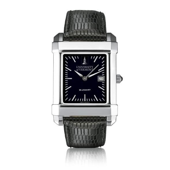 UVM Men's Black Steel Quad Watch with Bracelet - Image 2