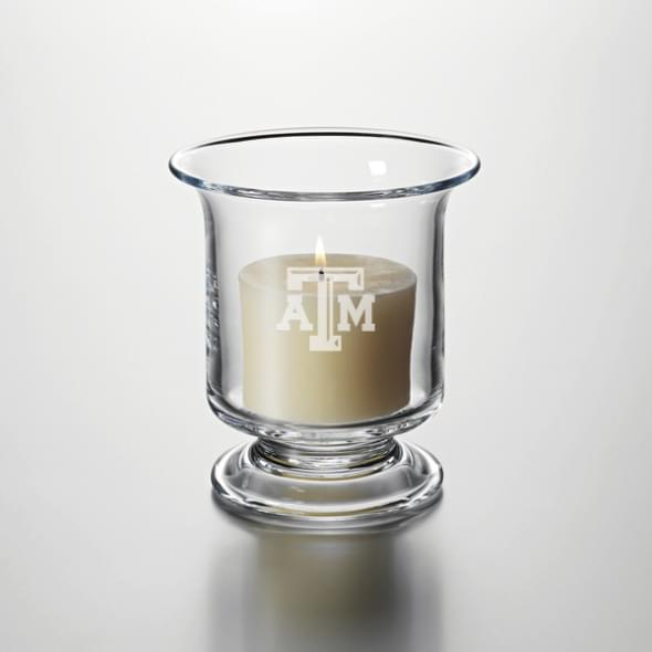 Texas A&M Glass Hurricane Candleholder by Simon Pearce