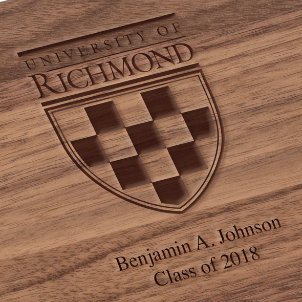 University of Richmond Solid Walnut Desk Box - Image 3