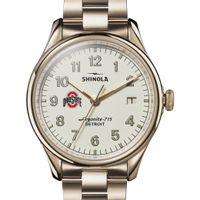 Ohio State Shinola Watch, The Vinton 38mm Ivory Dial