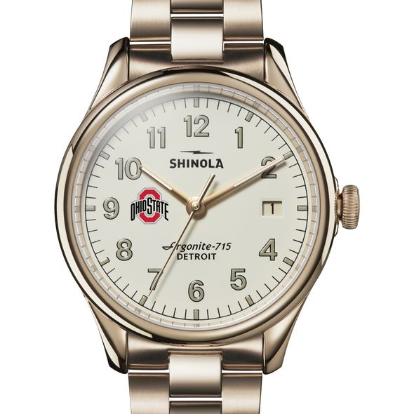 Ohio State Shinola Watch, The Vinton 38mm Ivory Dial - Image 1