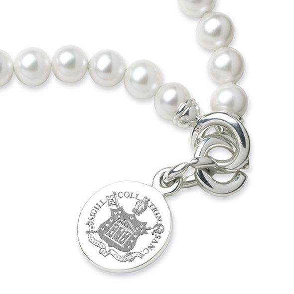 Trinity College Pearl Bracelet with Sterling Silver Charm - Image 2