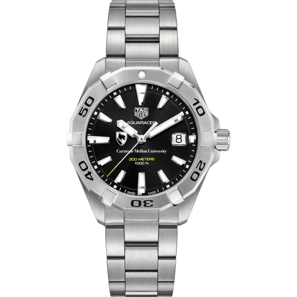 Carnegie Mellon University Men's TAG Heuer Steel Aquaracer with Black Dial - Image 2