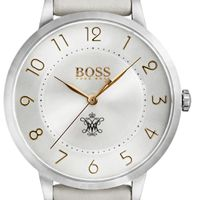 College of William & Mary Women's BOSS White Leather from M.LaHart