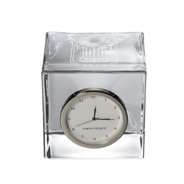 College of Charleston Glass Desk Clock by Simon Pearce