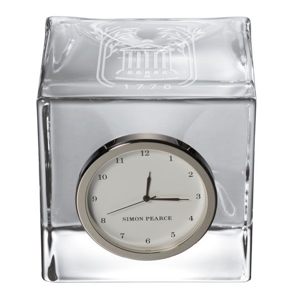 College of Charleston Glass Desk Clock by Simon Pearce - Image 2