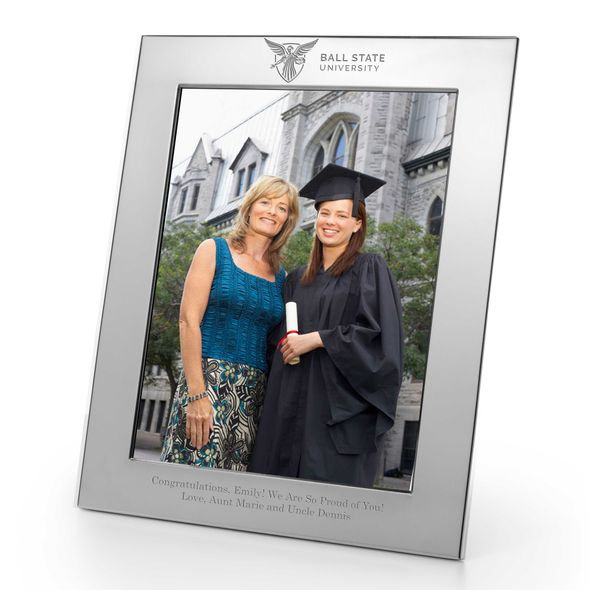 Ball State Polished Pewter 8x10 Picture Frame - Image 1