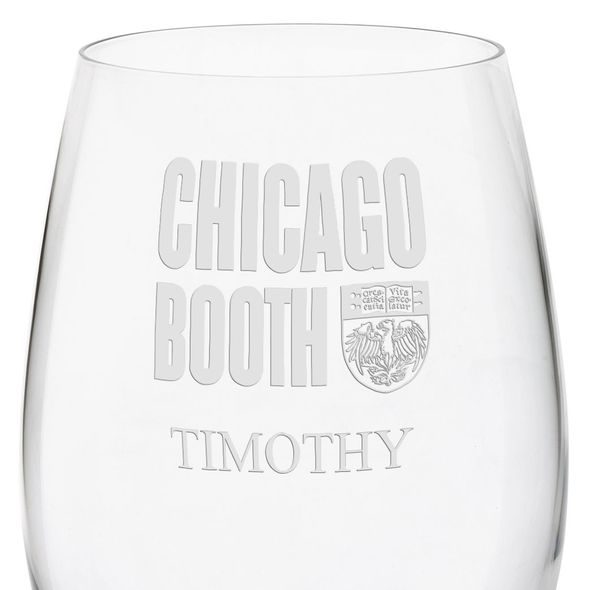 Chicago Booth Red Wine Glasses - Set of 4 - Image 3