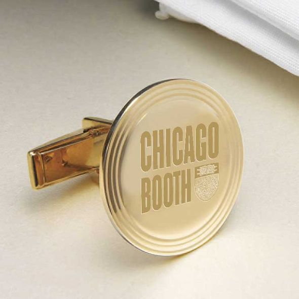 Chicago Booth 18K Gold Cufflinks - Image 2