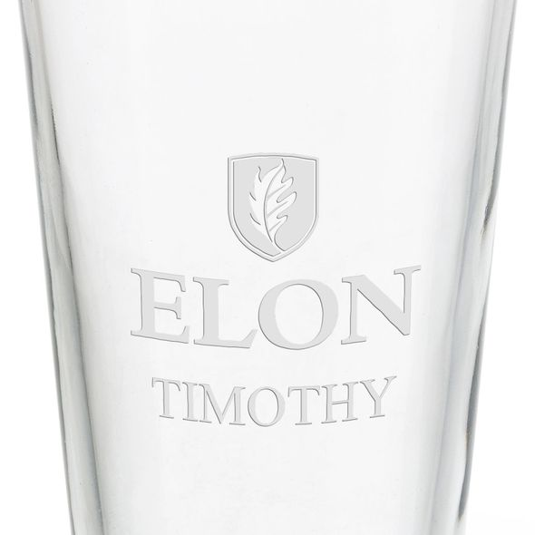Elon University 16 oz Pint Glass - Image 3