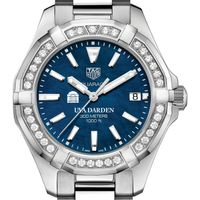 UVA Darden Women's TAG Heuer 35mm Steel Aquaracer with Blue Dial