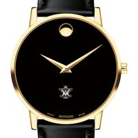 William & Mary Men's Movado Gold Museum Classic Leather