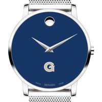 Georgetown University Men's Movado Museum with Blue Dial & Mesh Bracelet
