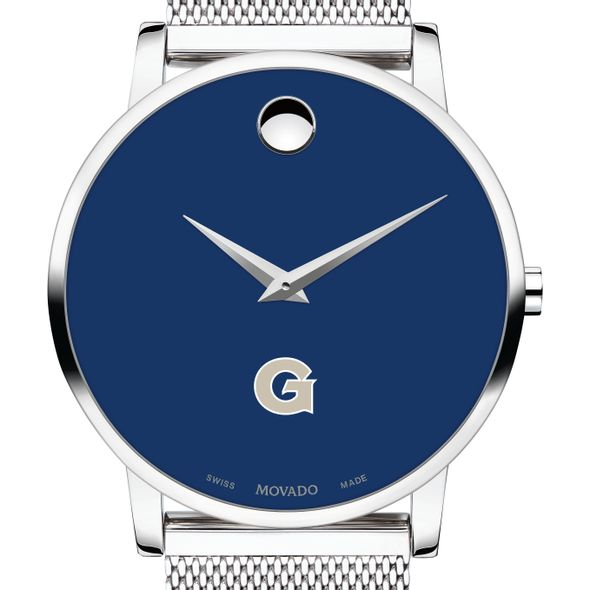 Georgetown University Men's Movado Museum with Blue Dial & Mesh Bracelet - Image 1