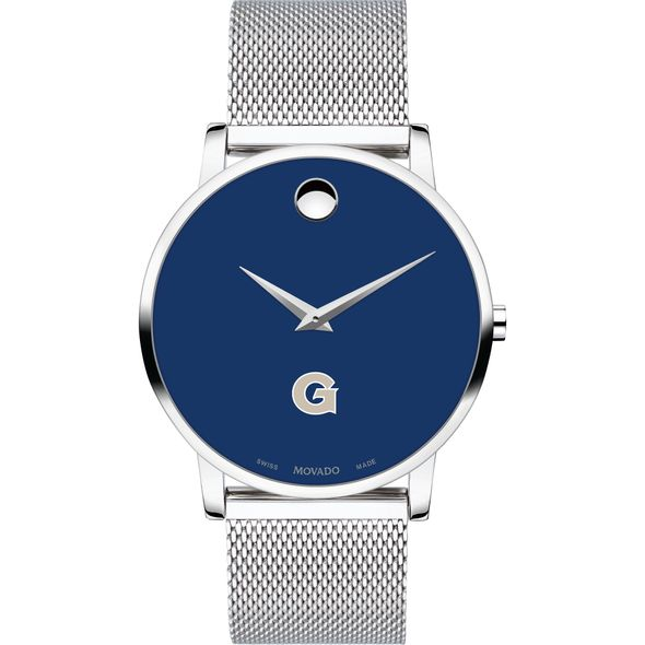 Georgetown University Men's Movado Museum with Blue Dial & Mesh Bracelet - Image 2
