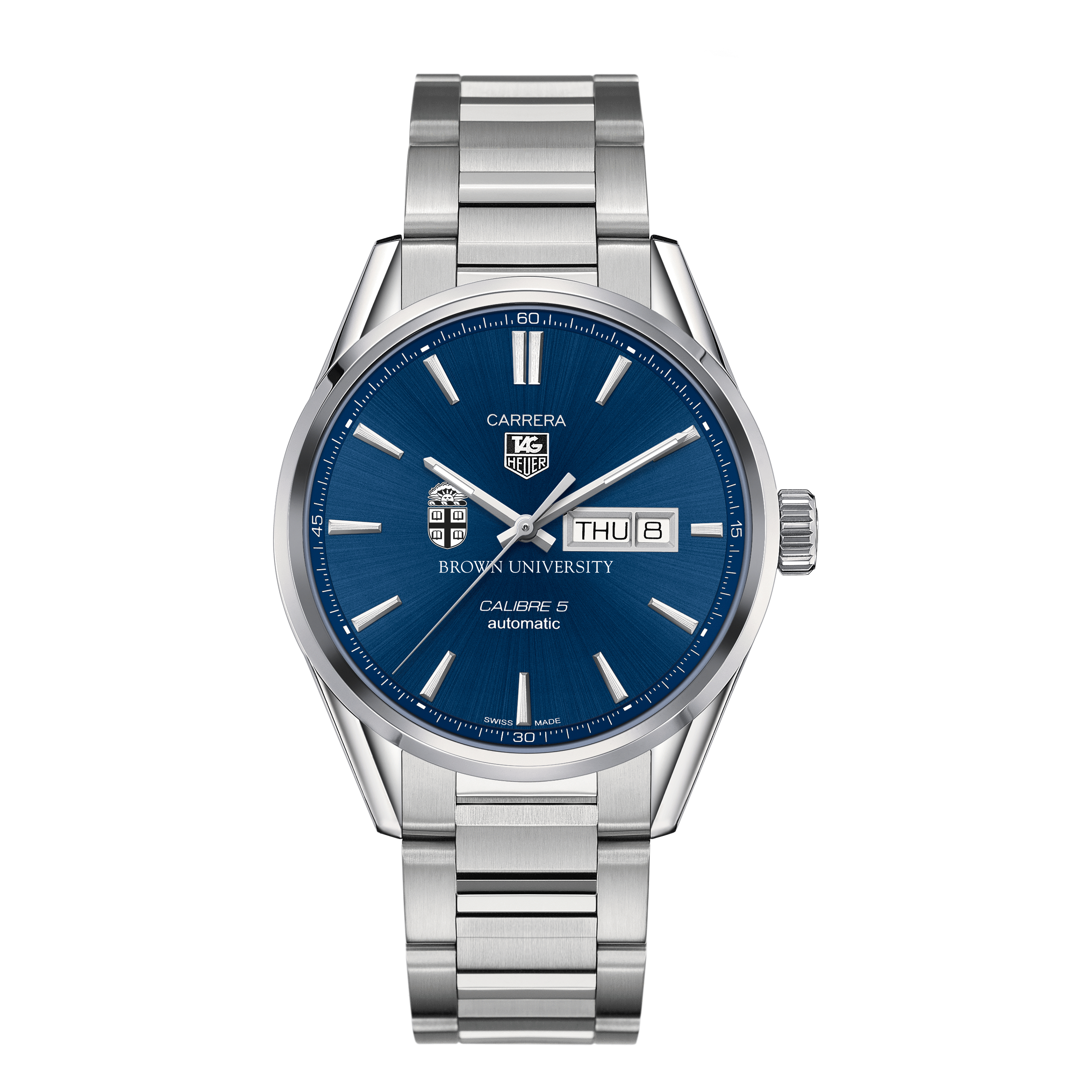 Brown University Men's TAG Heuer Carrera with Day-Date - Image 2