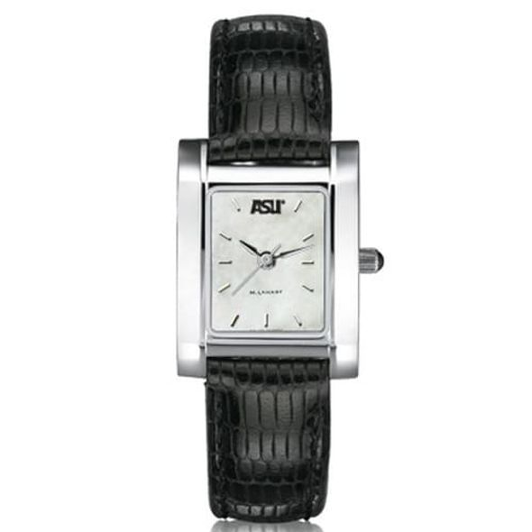ASU Women's Mother of Pearl Quad Watch with Leather Strap - Image 2