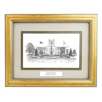 Framed Pen and Ink Virginia Tech Print