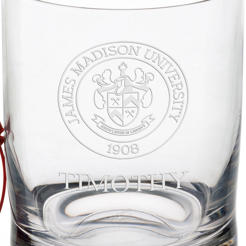 James Madison University Tumbler Glasses - Set of 4 - Image 3