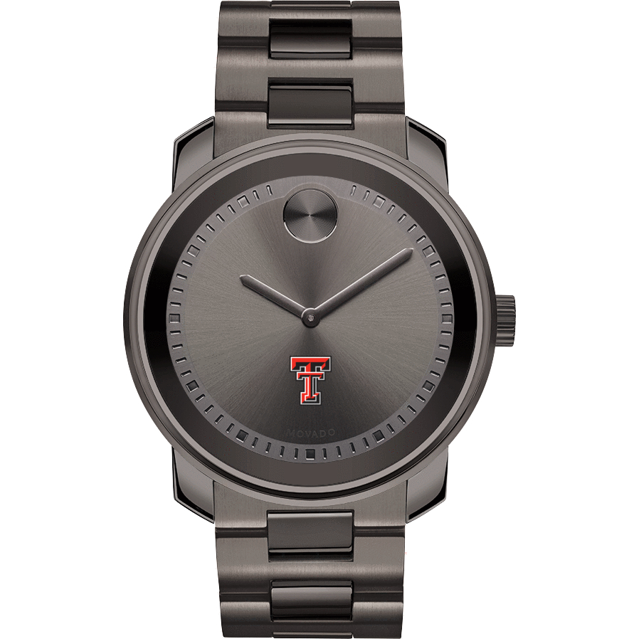 Texas Tech Men's Movado BOLD Gunmetal Grey - Image 2