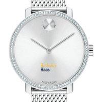 Berkeley Haas Women's Movado Bold with Crystal Bezel & Mesh Bracelet
