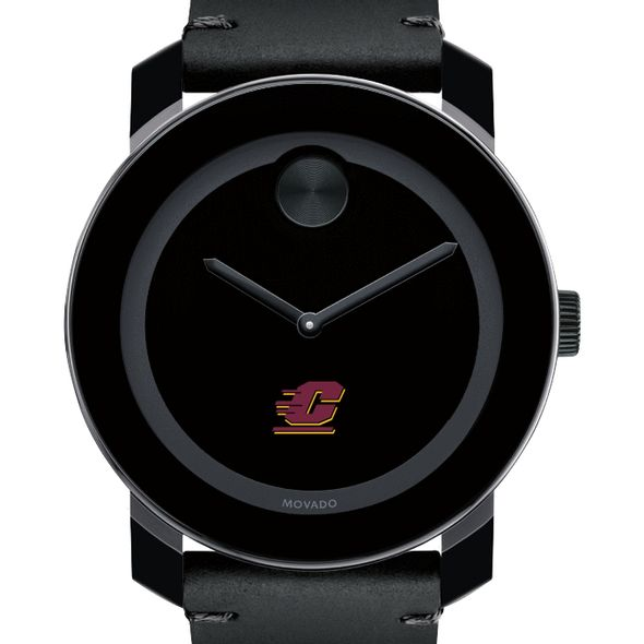 Central Michigan Men's Movado BOLD with Leather Strap