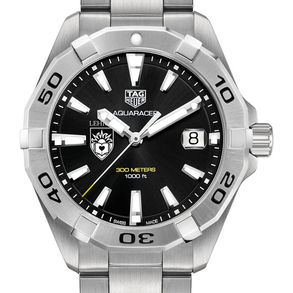 Lehigh University Men's TAG Heuer Steel Aquaracer with Black Dial