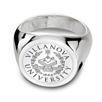 Villanova University Sterling Silver Round Signet Ring
