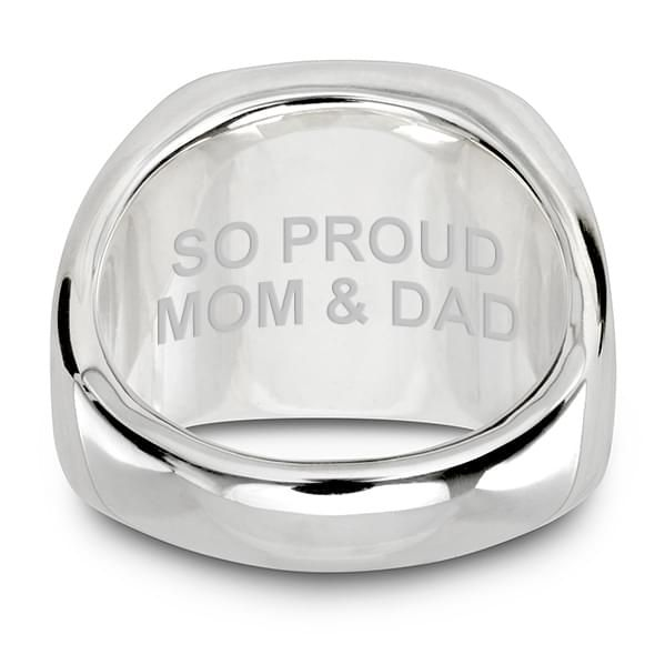 Villanova University Sterling Silver Round Signet Ring - Image 5