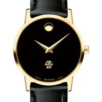 Boston College Women's Movado Gold Museum Classic Leather