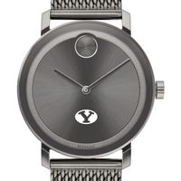 Brigham Young University Men's Movado BOLD Gunmetal Grey with Mesh Bracelet