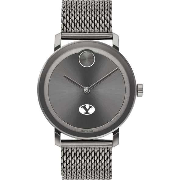 Brigham Young University Men's Movado BOLD Gunmetal Grey with Mesh Bracelet - Image 2