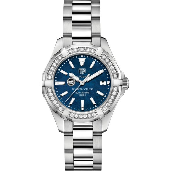 Boston College Women's TAG Heuer 35mm Steel Aquaracer with Blue Dial - Image 2