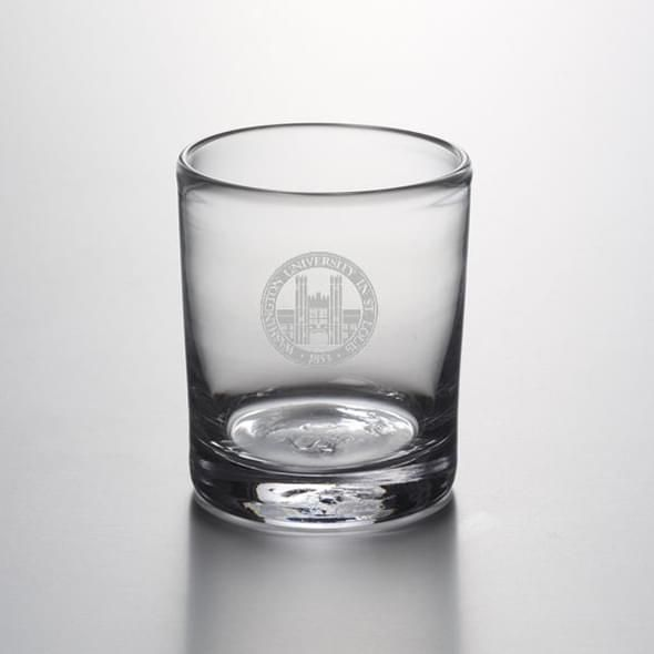 WashU Double Old Fashioned Glass by Simon Pearce