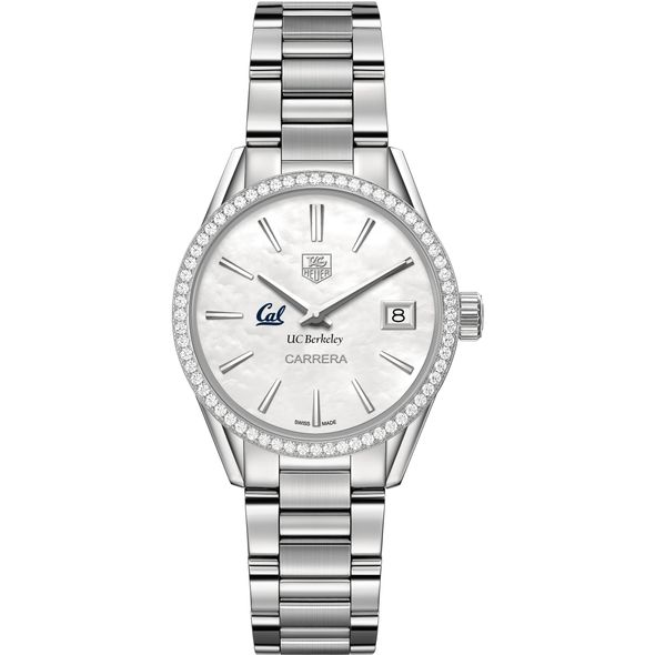 Berkeley Women's TAG Heuer Steel Carrera with MOP Dial & Diamond Bezel - Image 2