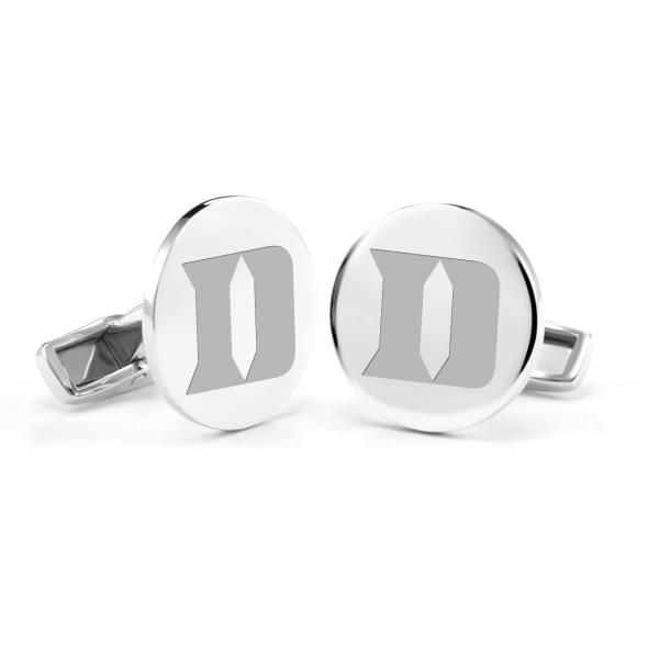 Duke University Cufflinks in Sterling Silver