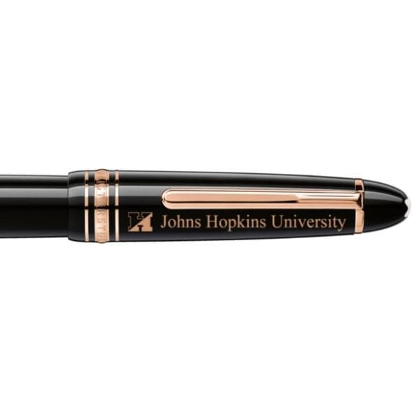 Johns Hopkins University Montblanc Meisterstück LeGrand Rollerball Pen in Red Gold - Image 2