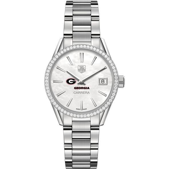 University of Georgia Women's TAG Heuer Steel Carrera with MOP Dial & Diamond Bezel - Image 2