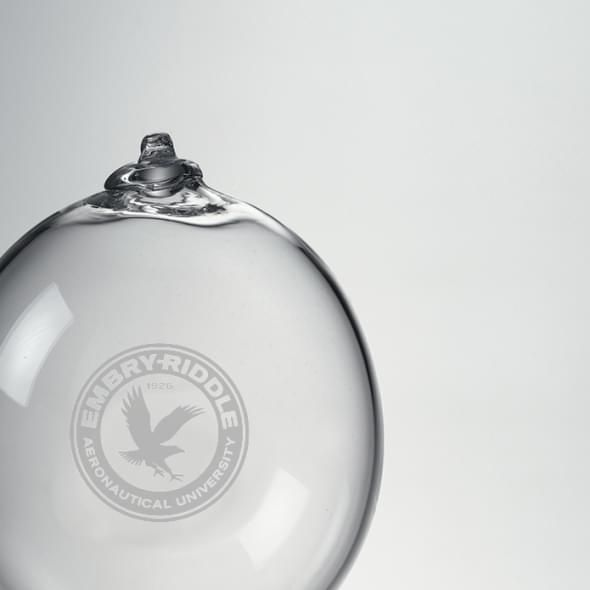 Embry-Riddle Glass Ornament by Simon Pearce - Image 2