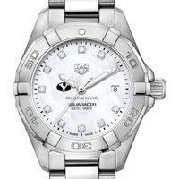BYU Women's TAG Heuer Steel Aquaracer with MOP Diamond Dial