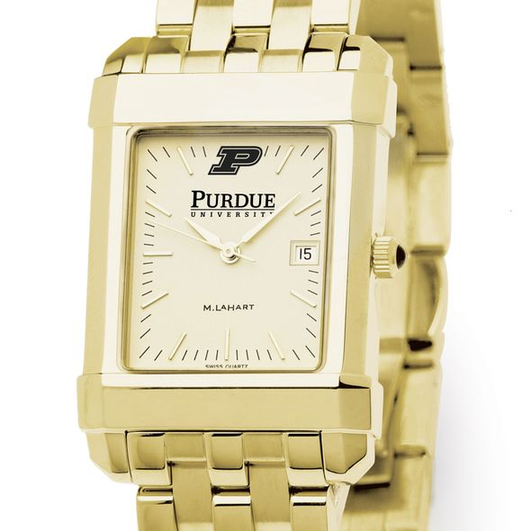 Purdue University Men's Gold Quad with Bracelet