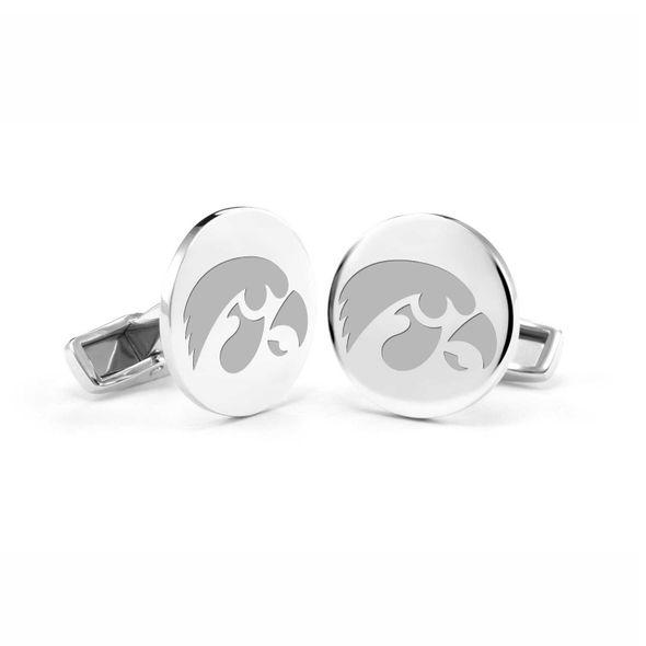 University of Iowa Cufflinks in Sterling Silver