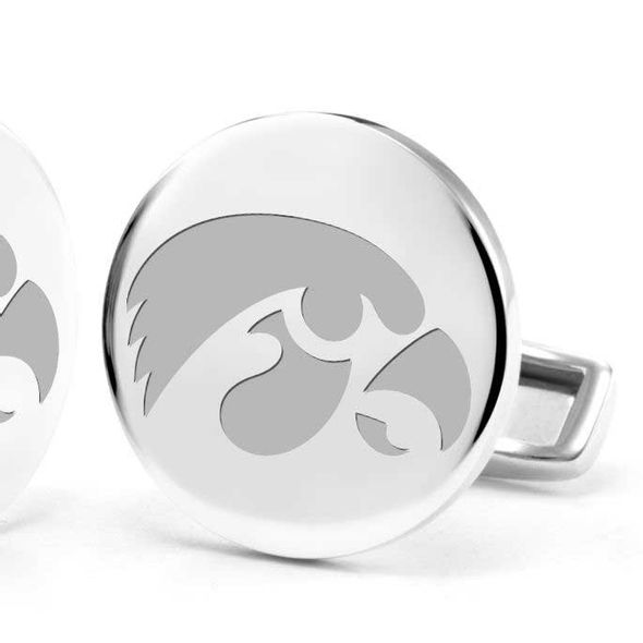 University of Iowa Cufflinks in Sterling Silver - Image 2